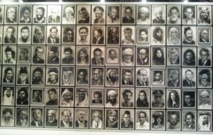 Yan Pei-Ming's Wall of Portraits.