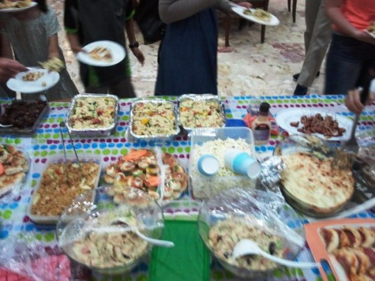 As usual with DHE events, there's never enough food. /jk